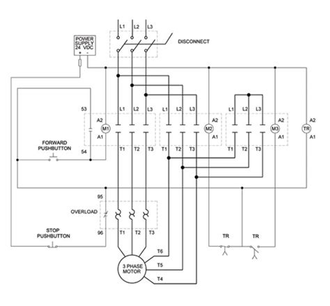 12 wire 3 phase motor wiring diagrams motor starter