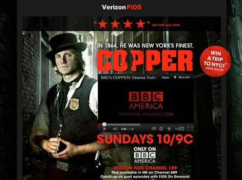 Verizon Sweepstakes - bbc america s verizon fios copper sweepstakes