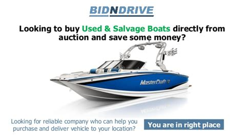 boat salvage in ontario salvage boats auctions bid n drive