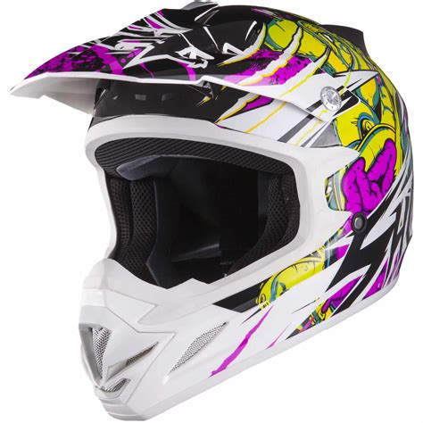 white motocross helmets shox mx 1 scream white purple green motocross helmet motox