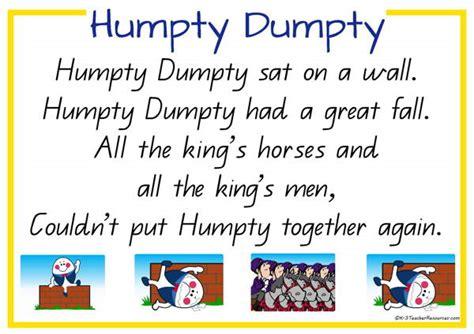 Full Humpty Dumpty Nursery Rhyme | humpty dumpty nursery rhyme k 3 teacher resources
