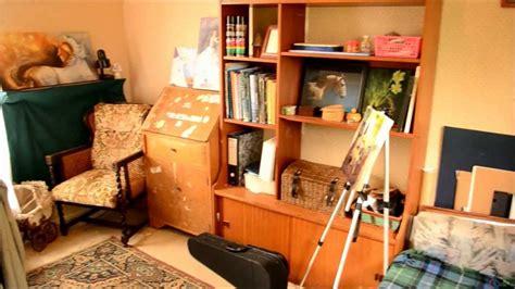how to make an art studio in your bedroom artist s art studio tour youtube