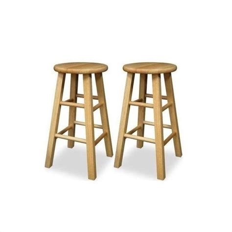 bar stools bar height winsome 24 quot counter height natural set of 2 bar stool ebay