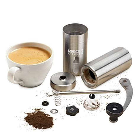 Tiamo Coffee Grinder Conical Ceramic Burr Penggiling Kopi Hg6149bk mercier manual coffee bean grinder with silicone easy grip adjustable ceramic conical burr