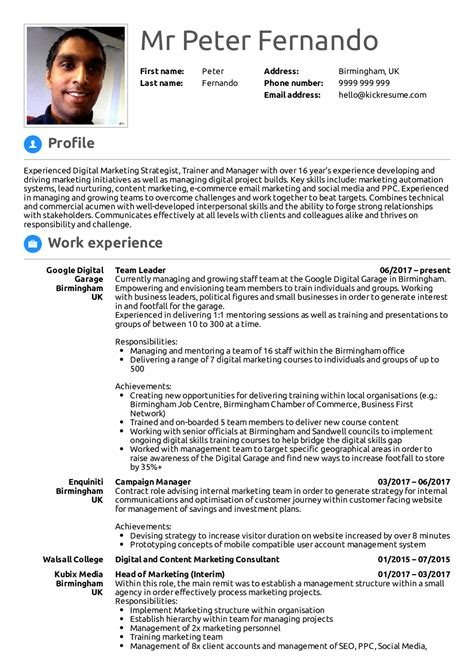 examples of resumes resume samples for experienced