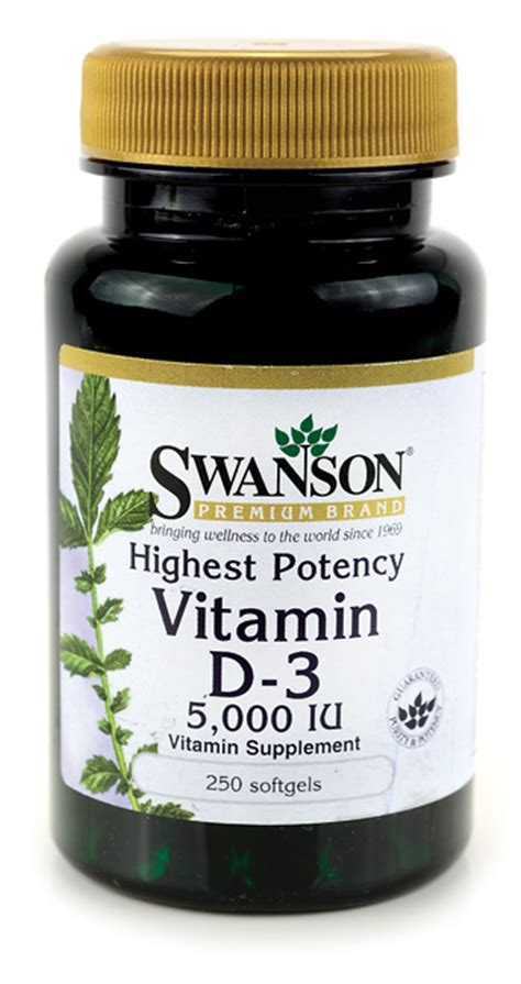 Swanson Highest Potency Vitamin D 3 5000 Iu 250 Softgel swanson vitam 237 n d3 5000 iu
