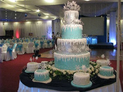 winter themed quinceanera cakes snow queen winter wonderland sweet fifteen theme