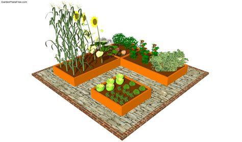 Small Vegetable Garden Layout Raised Garden Bed Plans Free Free Garden Plans How To Build Garden Projects