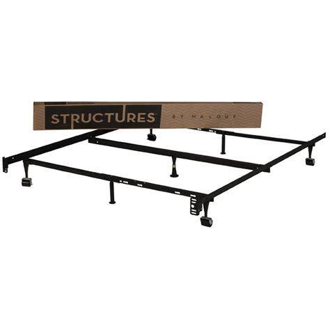 Heavy Duty Metal Bed Frame Fastfurnishings Heavy Duty 7 Leg Adjustable Metal Bed Frame