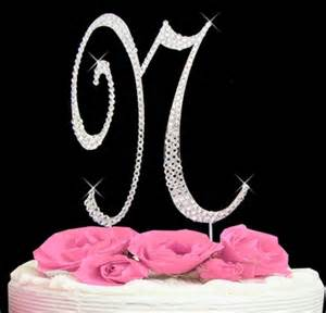 letter n cake topper wedding cake topper just jen