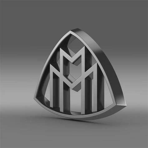 Maybach Logo 1 Tshirtkaosraglananak Oceanseven 1 maybach logo 3d model max obj 3ds fbx c4d lwo lw lws