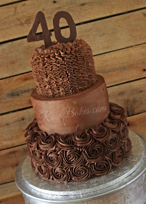 40th Birthday Cakes by All Chocolate 40th Birthday Cake Bakes