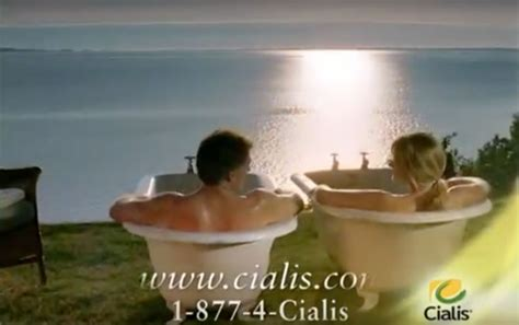 Why Two Bathtubs In Cialis Commercials by Cialis Commercial Pictures To Pin On Pinsdaddy