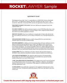 equipment lease agreement template lease for equipment form