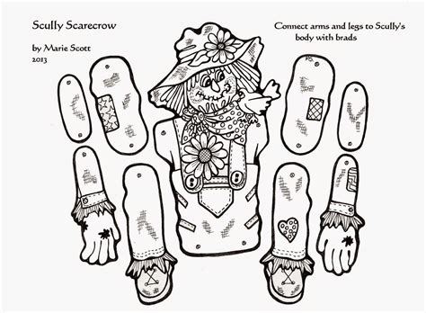 free printable scarecrow template serendipity hollow scarecrow craft