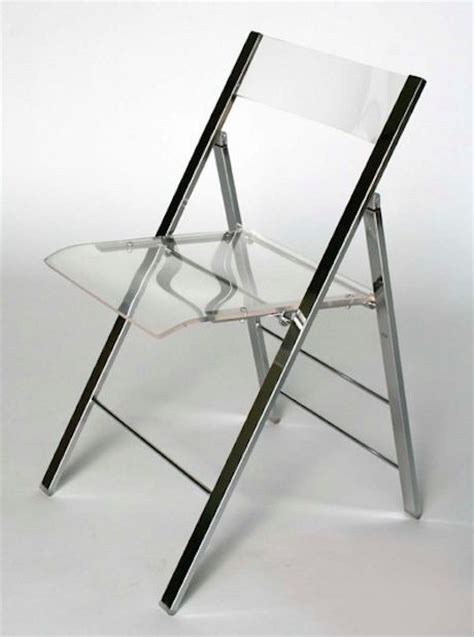 Folding Lucite Chairs - 10 folding chairs to look at and sit on lifeedited