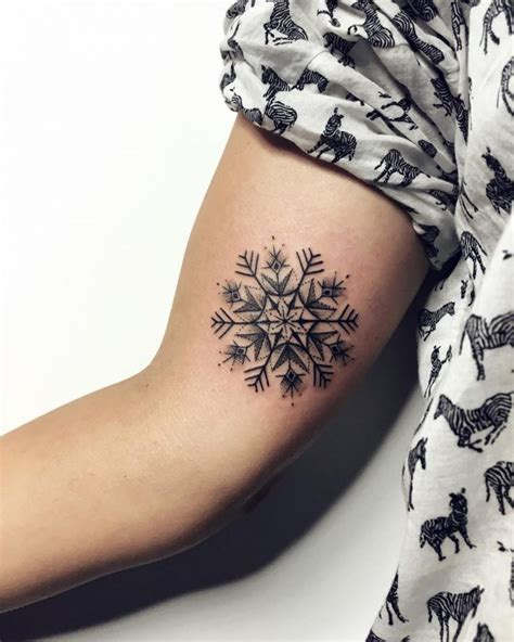 snowflake tattoo design 75 snowflake ideas express yourself with