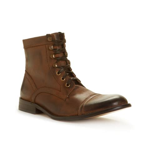 cap toe boots kenneth cole kick some cap toe boots in brown for