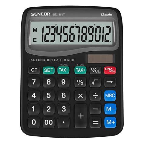 desktop calculator sec 352t 12 sencor let s live