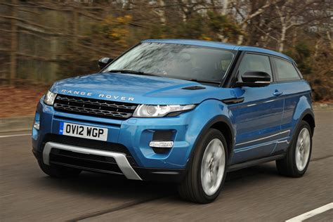 light blue land rover range rover evoque coupe pictures auto express