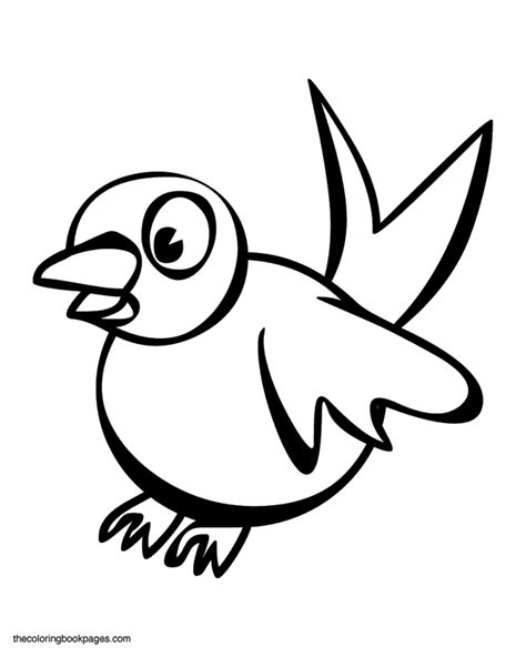 Coloring Pages Of Cartoon Birds | blue bird cartoon coloring home