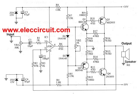 transistor vas ocl this 50w ocl lifier circuit has high quality and economical it is designed simple easily