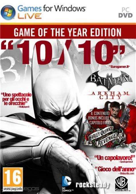 Termurah Batman Arkham Of The Year Ps4 batman arkham city edici 243 n of the year para pc 3djuegos
