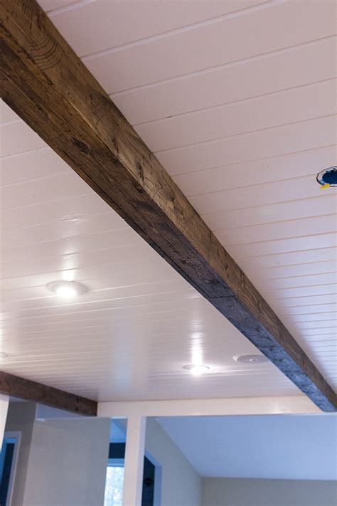 Diy Wood Beam Ceiling by Kitchen Chronicles Diy Wood Beams Sue Design