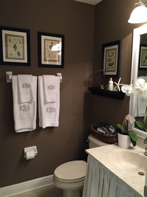 brown bathroom walls powder room makeover starfish cottage