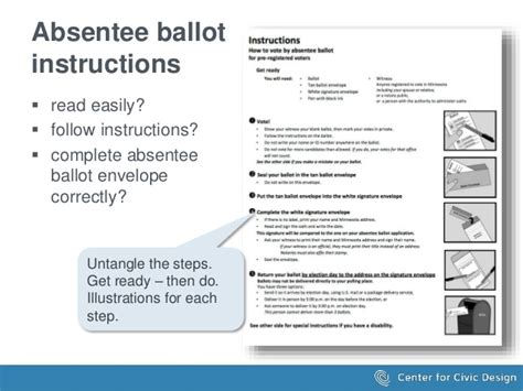 Creating Effective Election Materials And Websites Absentee Ballot Envelope Template