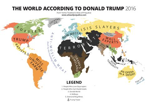 map world according to the world according to donald atlas of prejudice