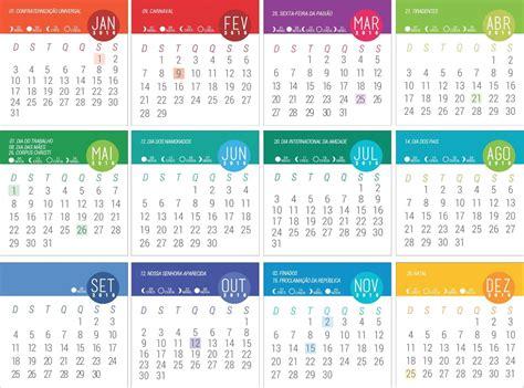 Calendario 2016 2017 Imprimir Calend 225 2017 Modelos Para Imprimir Ligeirando