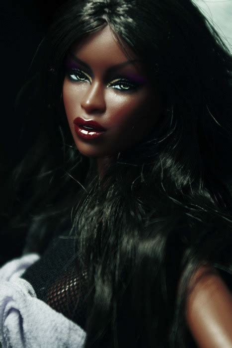 black out doll black on