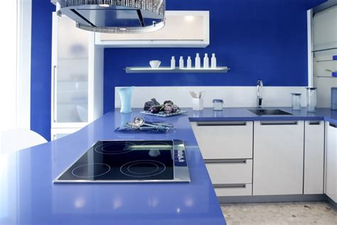 blue countertop will the color of your countertop affect how you feel