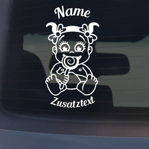 Mädchen Auto by Babyaufkleber Quot Quot Mit Wunschname