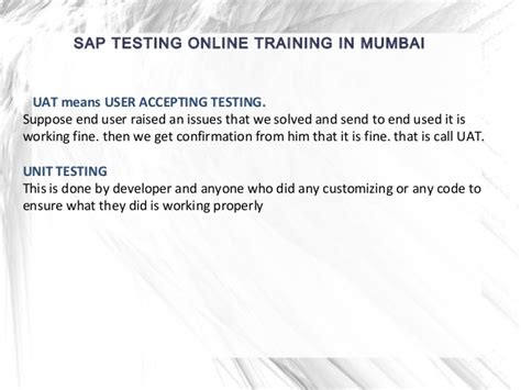 sap tutorial mumbai sap testing online training in mumbai