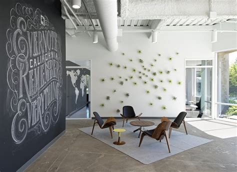 interior pictures for office wall industrial wall reception space chalk artistry company logo interior