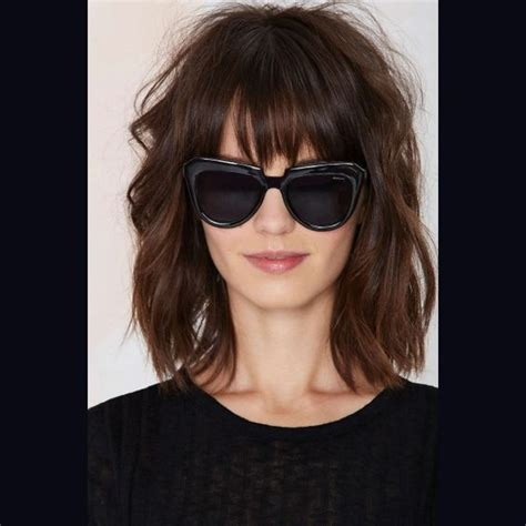 lob hairstyle pictures with bangs lob haircut with bangs google search hair pinterest
