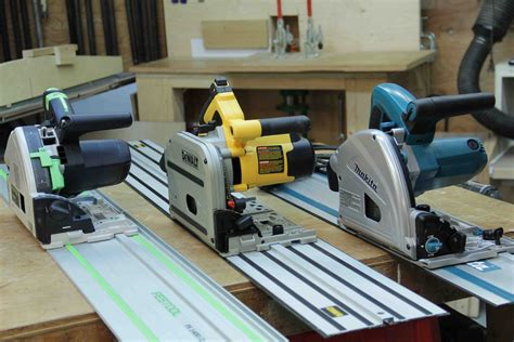 rail saw vs table saw dewalt makita festool track saw head to head teaser