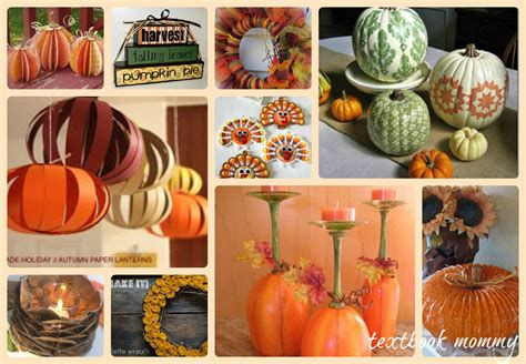thanksgiving home decorations ideas textbook mommy 10 fantastic thanksgiving home decor crafts