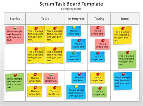 Task Card Template Ppt by Scrum Task Board Template Powerpoint Jpg 627 215 468 Agile