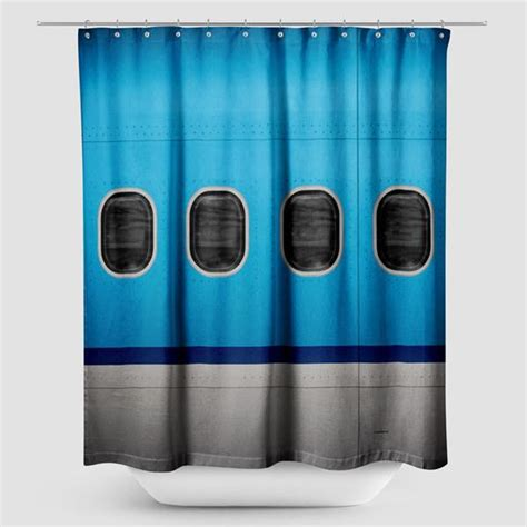 planes shower curtain shower curtain kl airplane windows airportag