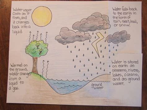 water cycle foldable template inside of water cycle foldable creative classroom