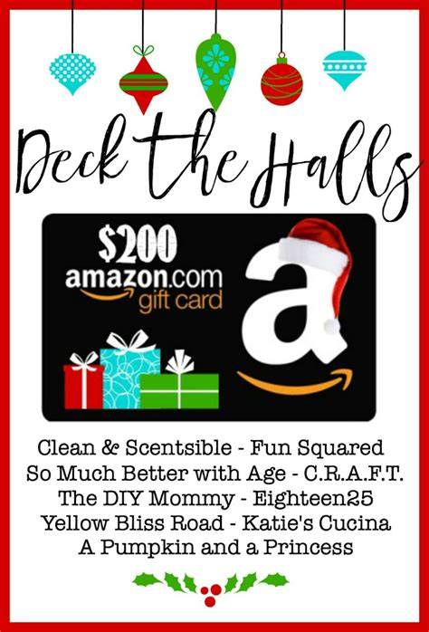 Amazon Gift Card Faq - deck the halls 200 amazon gift card giveaway clean and scentsible