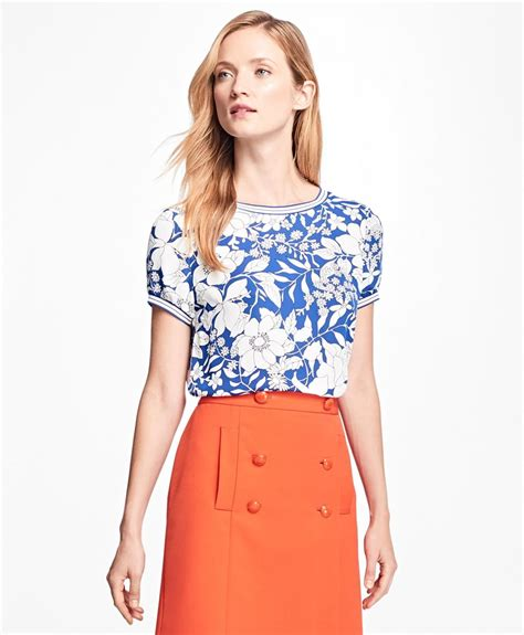 Blouse Sv 345845 White brothers floral print blouse in blue lyst