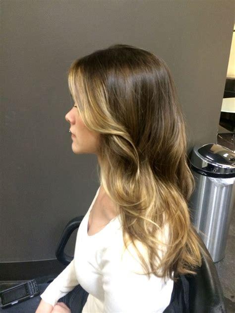 dark ash blonde balayage on dark hair dark ash blonde hair with golden balayage stylist