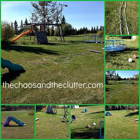 easy backyard obstacle course outdoor fall obstacle course