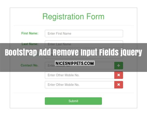 sam layout min js add remove input fields dynamically using jquery and bootstrap