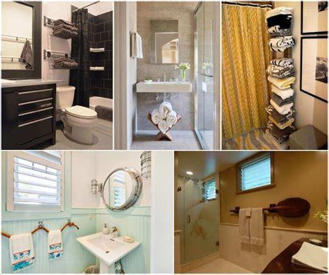 ways to hang bathroom towels clever bathroom storage ideas images 30 brilliant diy