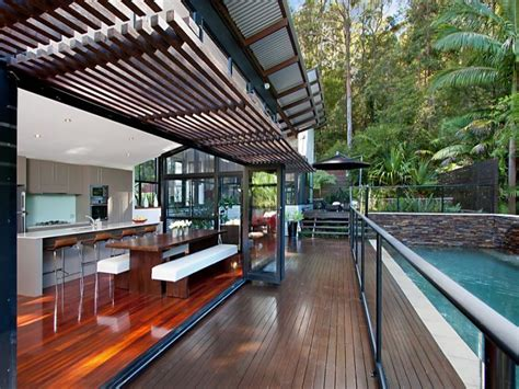 Designer Garage Doors Perth outdoor living design with balcony from a real australian
